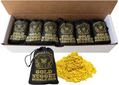 Buffalo Bills Gold Nugget Bubble Gum - 15-Ct Boxes