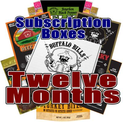 Buffalo Bills Beef Jerky Subscription Boxes - 12 Months