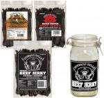 Buffalo Bills Premium Beef Jerky Strips & Glass Jar Combo - 3 BAGS