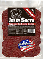 Peppered Beef Jerky Shots